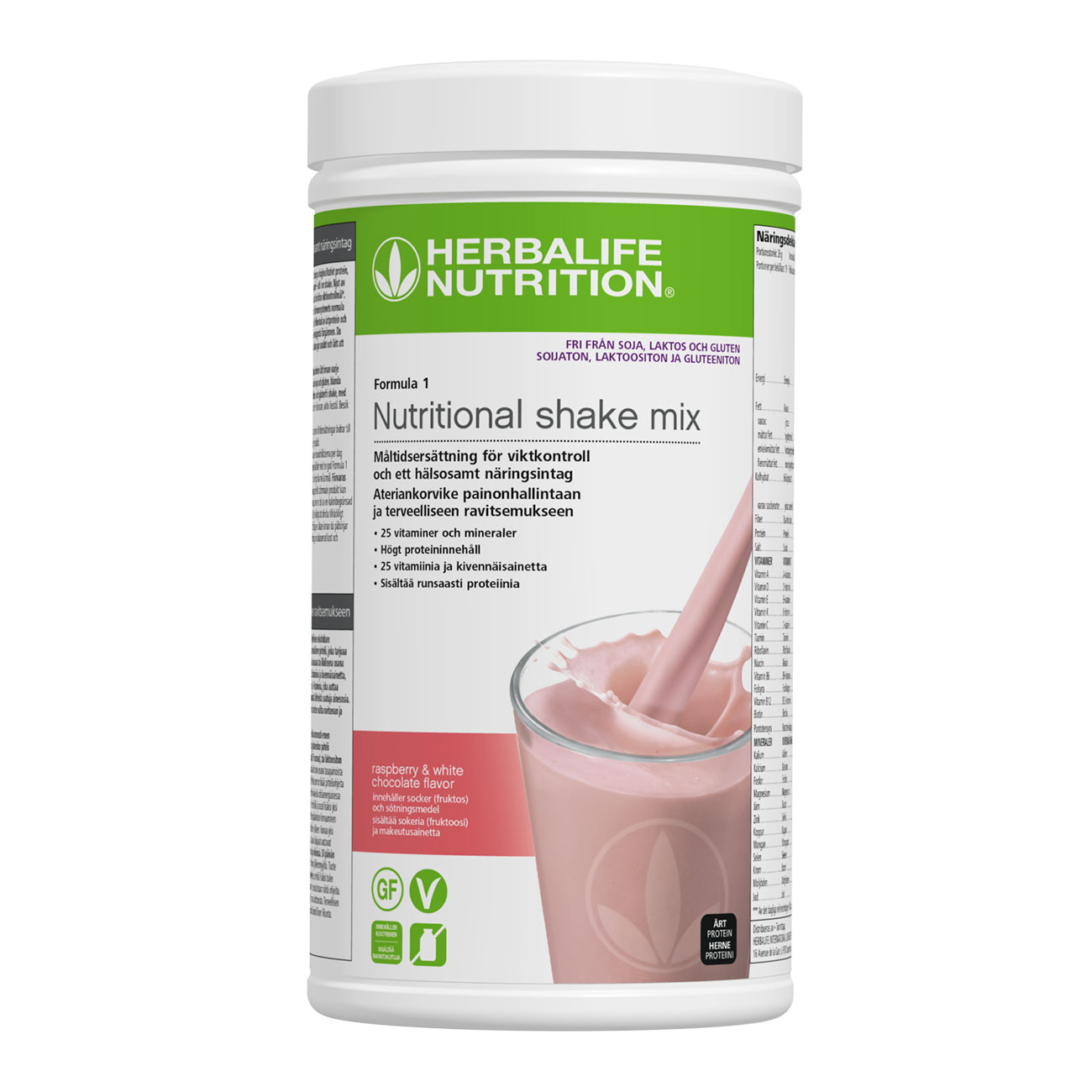 Formula 1 Free-From Protein Shake Raspberry and White Chocolate produktbild